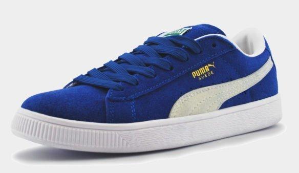 Puma Suede Classic синие с белым