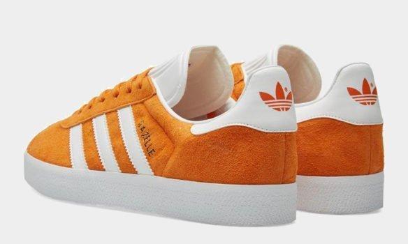 Фото Adidas Gazelle оранжевые - 1