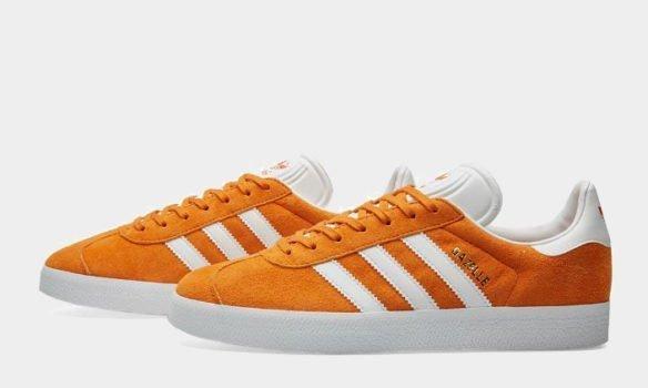 Фото Adidas Gazelle оранжевые - 2