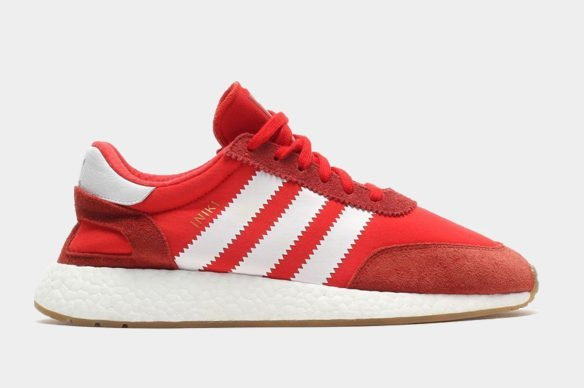 Фото Adidas Iniki Runner Boost красные - 1