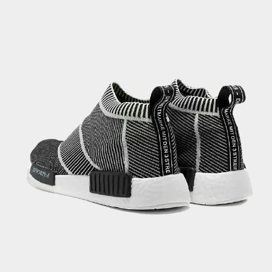 Фото Adidas NMD Primeknit City Sock бело-черные - 3