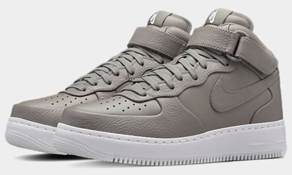 Фото Nike Lab Air Force 1 Mid серые - 1