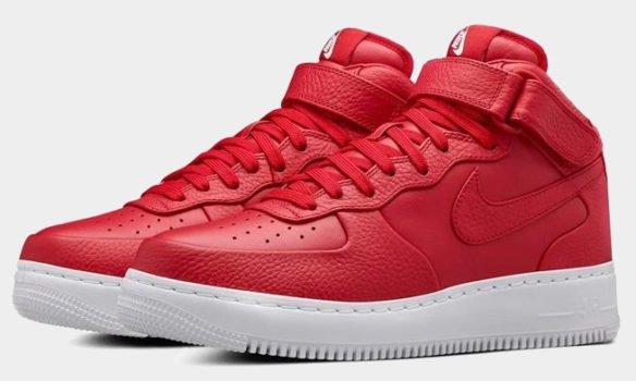 Фото Nike Lab Air Force 1 Mid красные - 3