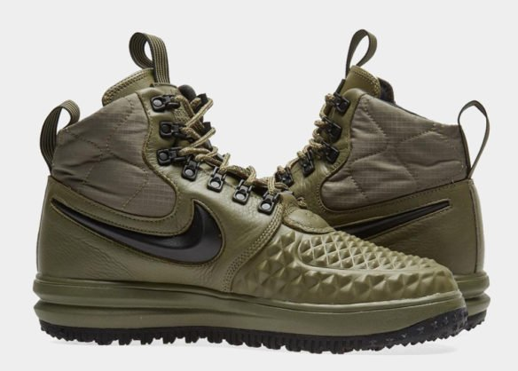 Фото Nike Lunar Force 1 Duckboot зеленые - 2