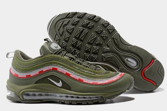 Фото Undefeated x Nike Air Max 97 MoonRock зеленые - 3